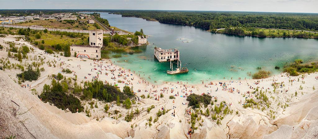 Rummu underwater prison in Estonia