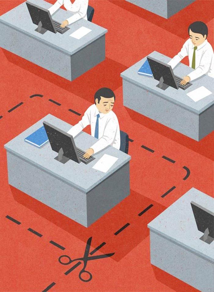Office worker Satire John Holcroft
