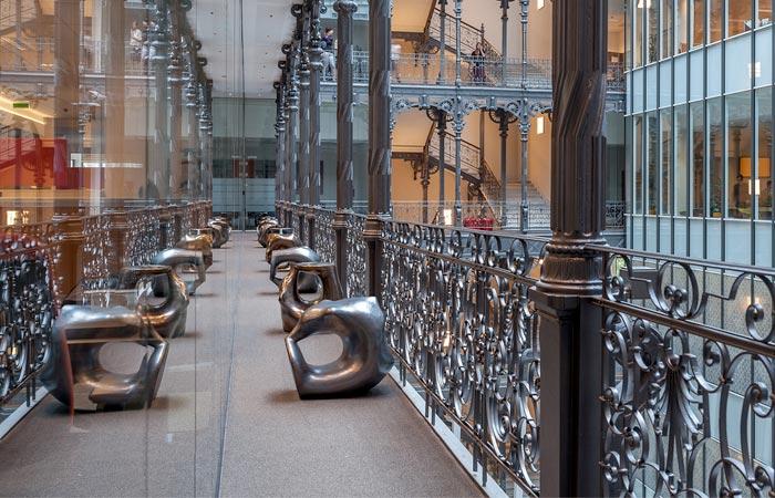 Silver ceramic seats