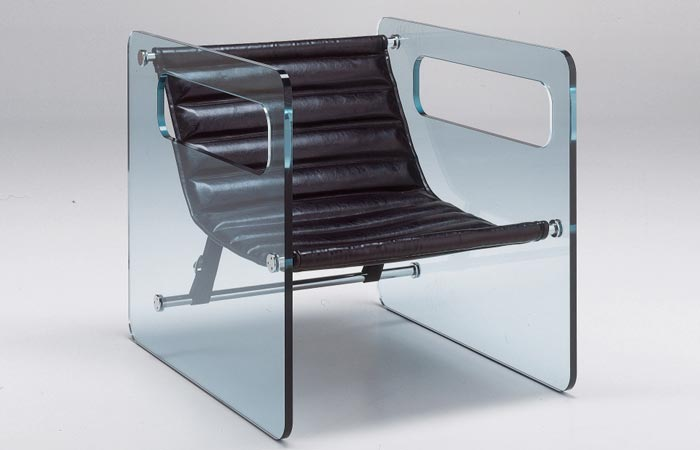 Naked Glass Armchair from Tonelli