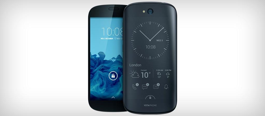 Yotaphone 2 phone with 2 screens
