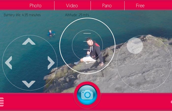 Zano Drone app user interface