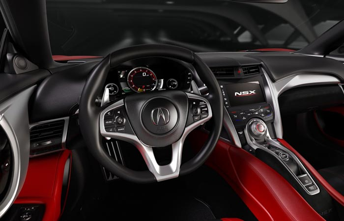 Interior of the 2016 Acura NSX