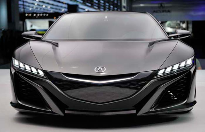 Front view of the 2016 Acura NSX