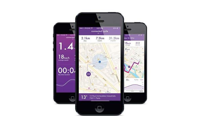 Smart Bike pedal smartphone app