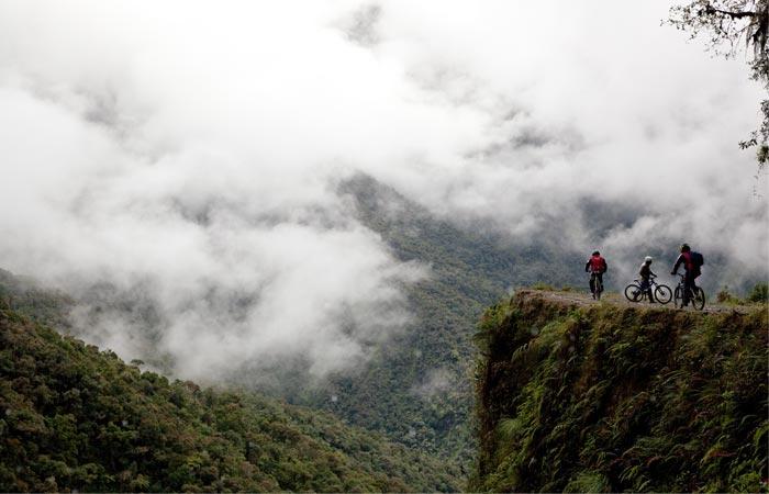 Mountain biking Bolivian Death Road