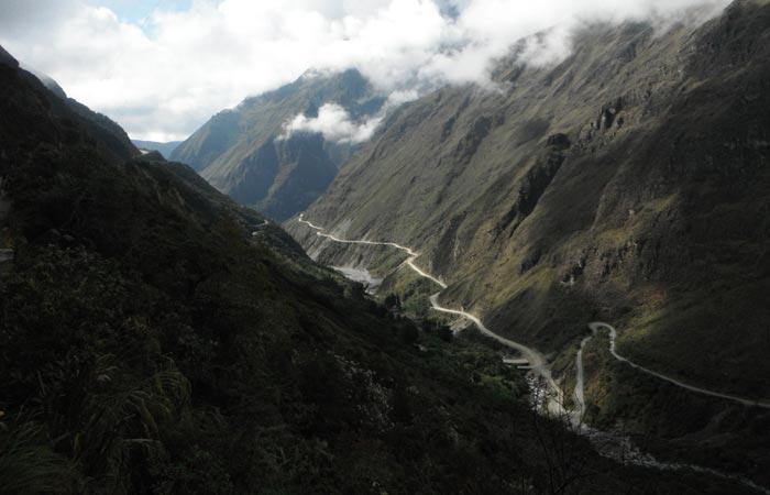 Death road, Camino de la Muerte in Bolivia