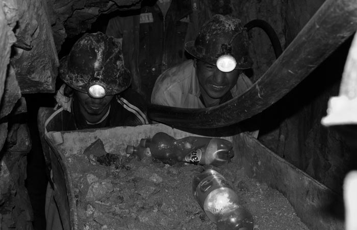 Kids working in a silver mine in Bolivia