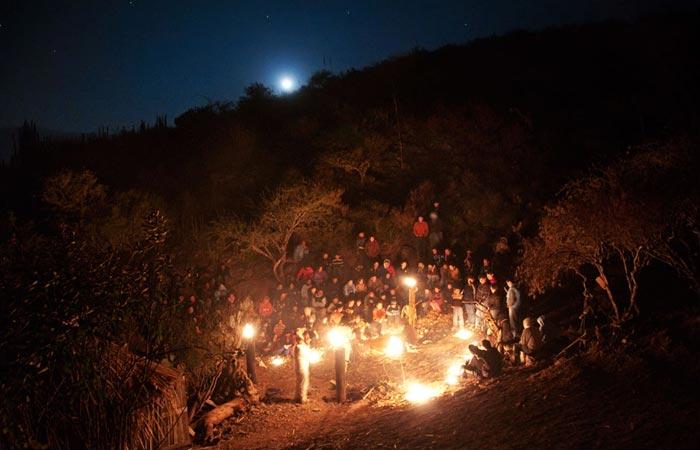 Caminata nocturna in mexico