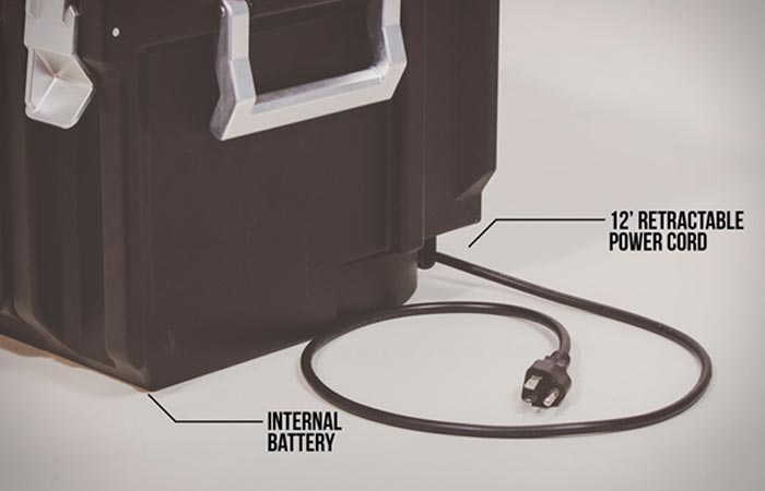 Coolbox Toolbox with power cord