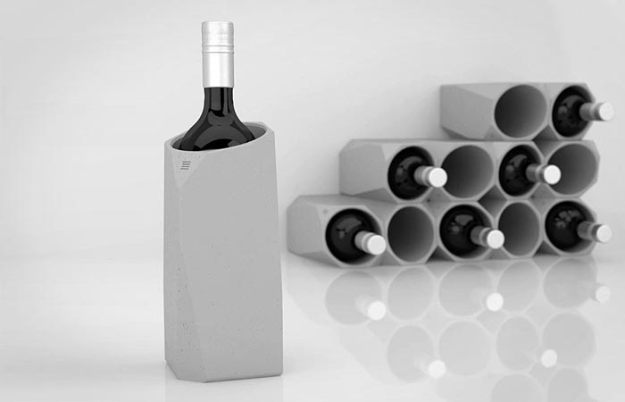 Concrete wine cooler