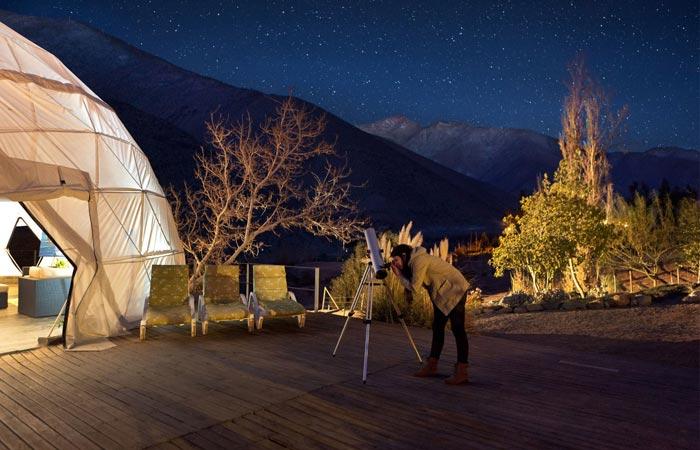 Telescope at the Elqui Domos Astronomic Hotel