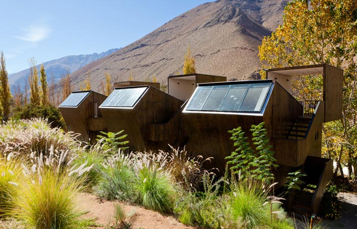 Bungalows at the Elqui Domos Astronomic Hotel in Chile