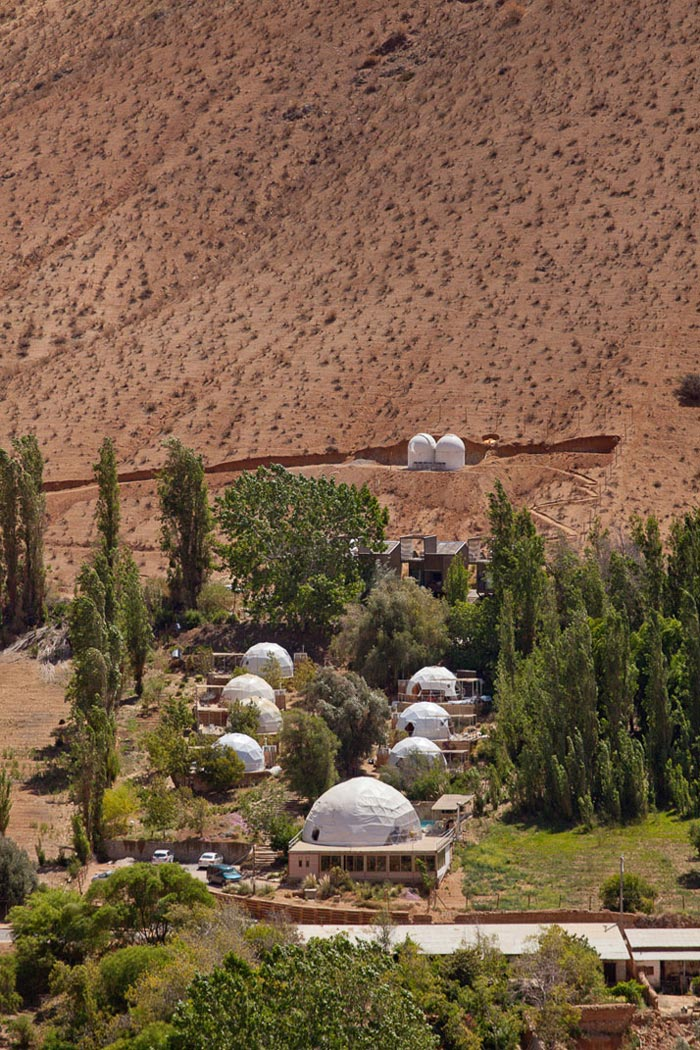 Domes at the Room at the Elqui Domos Astronomic Hotel