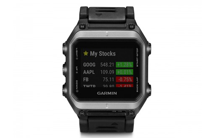 Stock app on the Garmin Epix