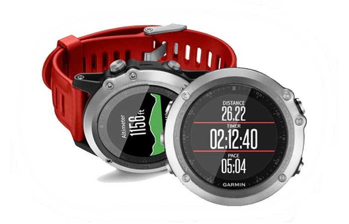 Garmin Fenix 3 with red band