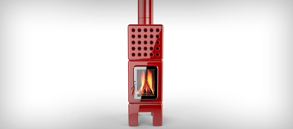 Cubistack Slim stove by La Castellamonte