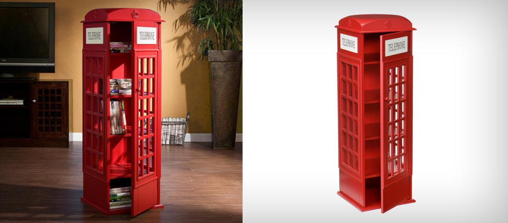 Bon British Phone Booth Cabinet