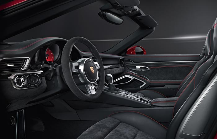 Interior of the Porsche 911 Targa 4 GTS