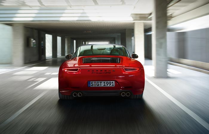 Rear view of the Porsche 911 Targa 4 GTS