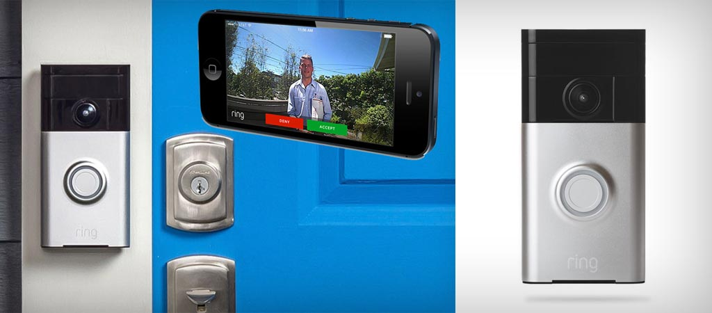 Ring wi-fi enabled doorbell with video camera