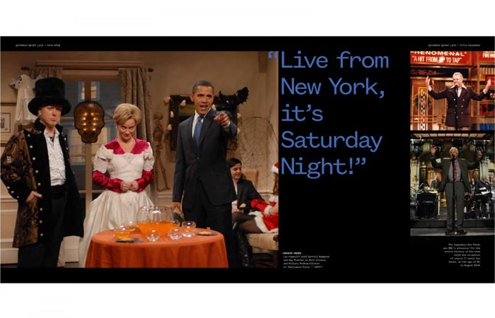 Barrack Obama in the Saturday Night Live book