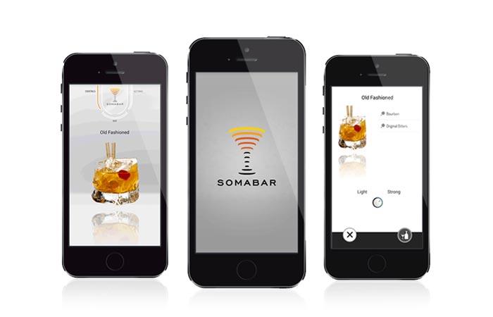 Somabar robotic bartender app