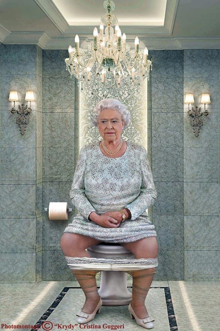Queen Elizabeth pooping