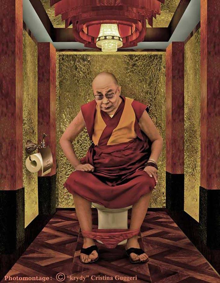 Dalai Lama in The Daily Duty by Cristina Guggeri