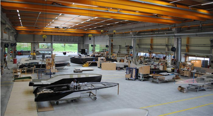 Frauscher Boats manufacturing plant