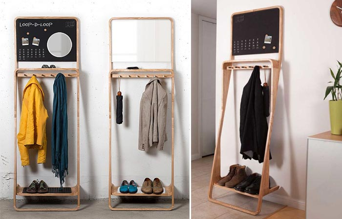 Entryway organizer made out of wood