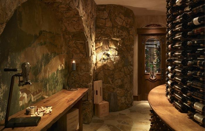 Log Cabin wine cellar
