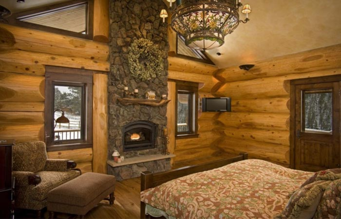 Log Cabin bedroom design