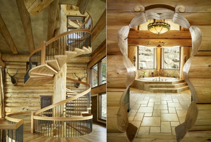 Log Cabin staircase design
