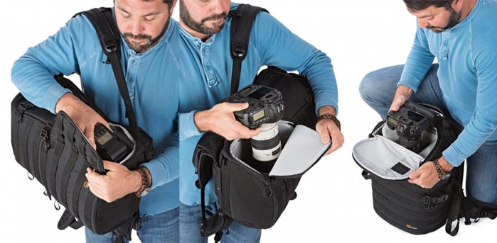 Lowepro Pro Tactic 450 AW camera backpack features