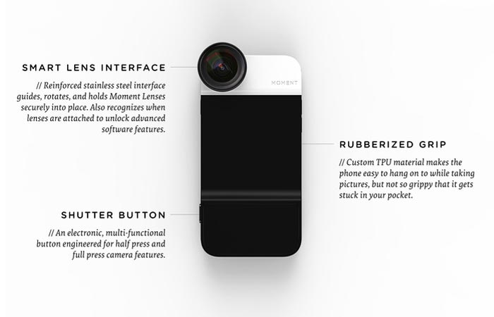 Moment Case for iPhone specifications and details