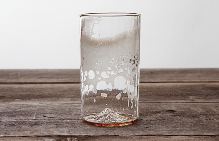 North Drinkware mountain pint glass