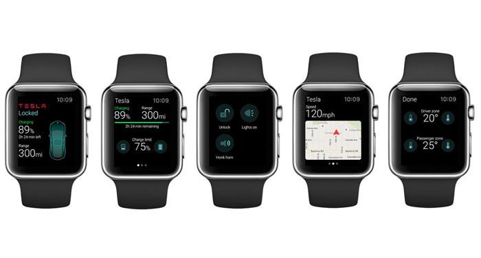 Apple watch Tesla App