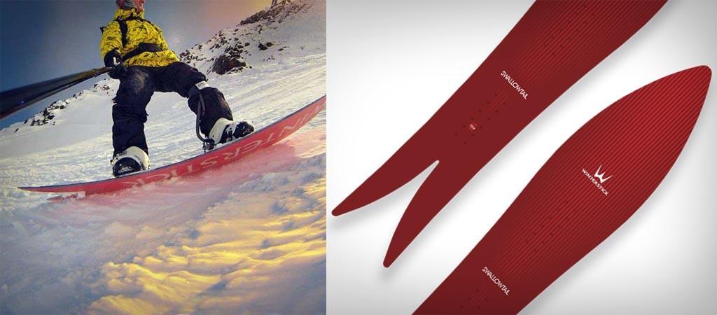 Winterstick Swallowtail snowboard