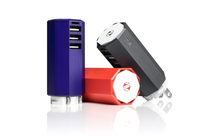 Zolt charger charging multiple gadgets