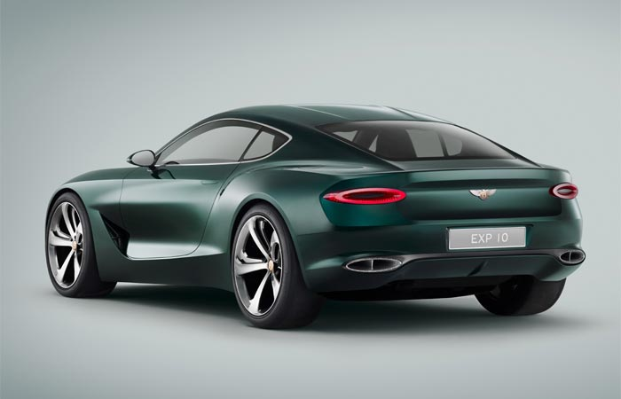 Rear side view of the Bentley EXP 10 Speed 6