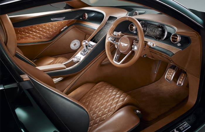 Interior view of the Bentley EXP 10 Speed 6