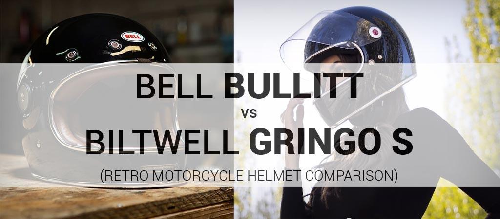 Biltwell Gringo S vs Bell Bullitt retro motorcycle helmet comparison