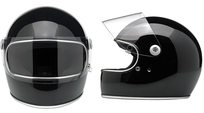 Biltwell Gringo S retro motorcycle helmet with visor
