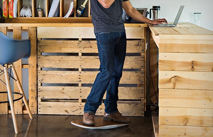 Fluidstance Level standing desk and balance board