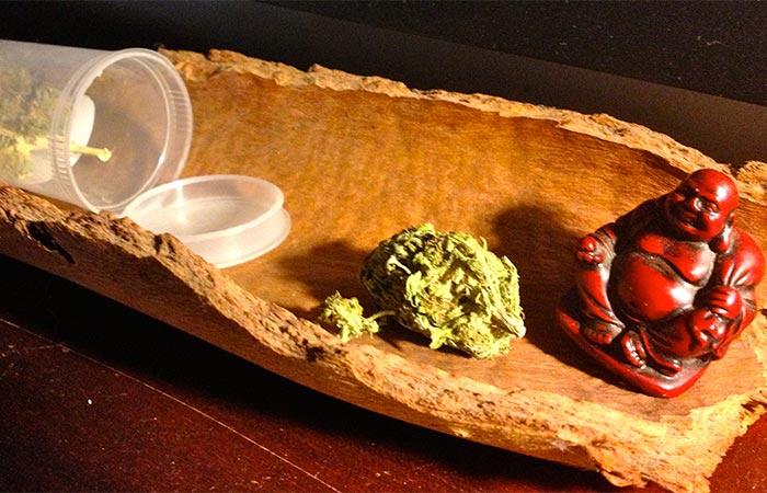 Buddha and weed