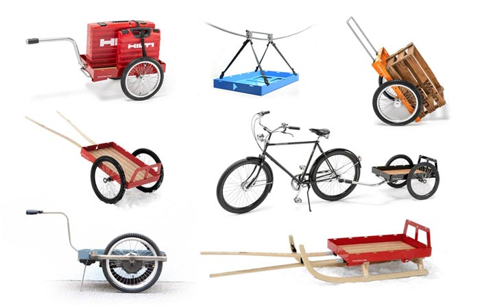 Hinterher bike trailer applications