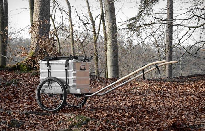 Hinterher bike trailer
