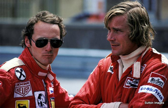 James Hunt and Nikki Lauda