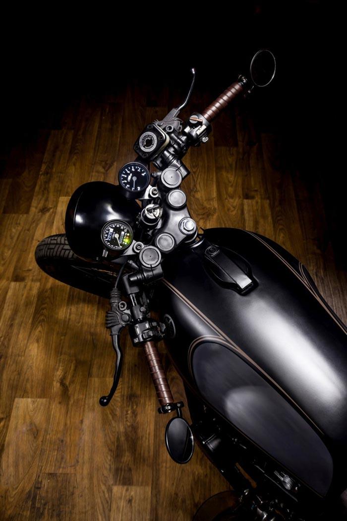 Restored Yamaha XS400 Dark Bullet